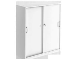 Skåp med skjutdörrar vitt nordicofficedesign